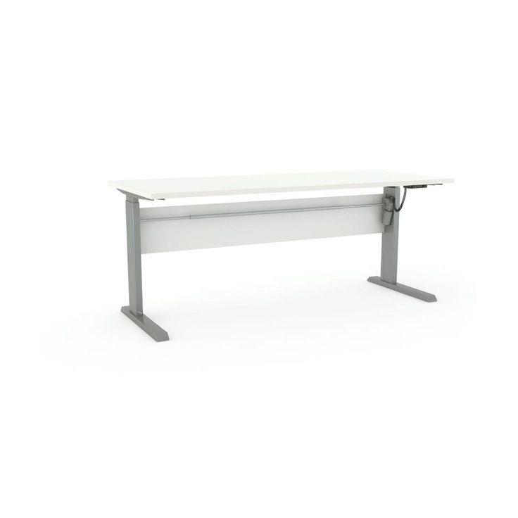 Cubit Height-Adj Electric Desk 1800 White/Silver