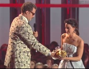 Aubrey Plaza Interrupts Will Ferrell At MTV Movie Awards, Asked To Leave [VIDEO]