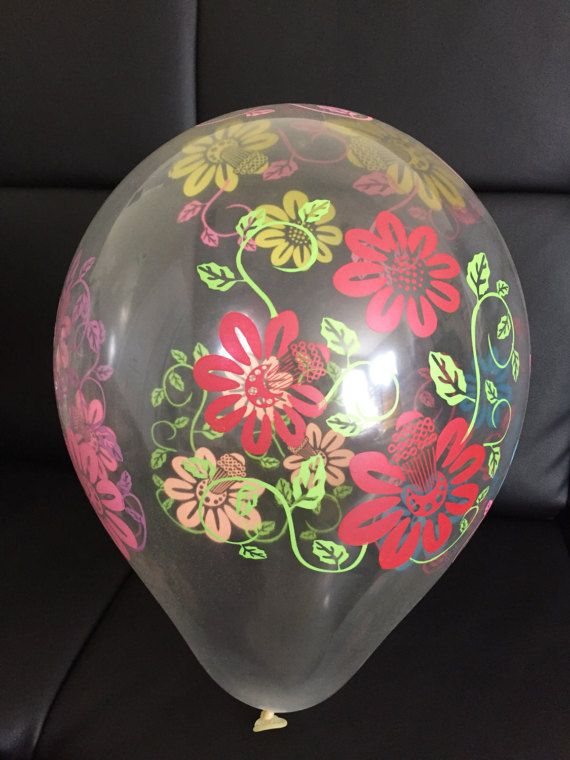 "12"" Flower Transparent Latex Luau Party Balloon"