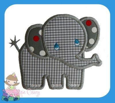 Diseño de apliques elefante bebé por AppliqueCrazy en Etsy                                                                                                                                                      Mais