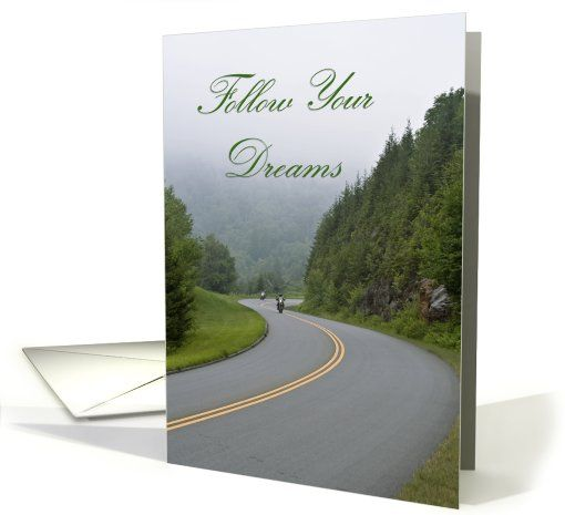 Follow Your Dreams ~ Motorcycle riders card (617520)