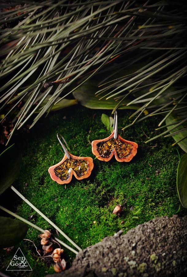 Ginko earrings by Sen Góry.  http://www.facebook.com/SenGory