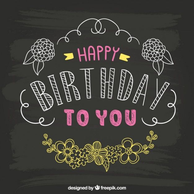 Hand drawn birthday card on blackboard Source: Freepik License: Free for commercial use with attribution File type: Ai Date: Fri, 17 Jul 2015 Categories: Free Vectors, Birthday Download