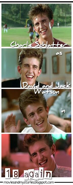 Charlie Schlatter. So adorable Back in the day. He's still attractive even Now. Loves him as David in 18 again! Funny movie