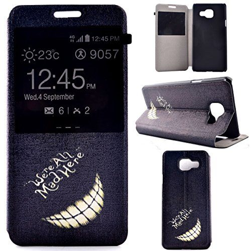 A3 2016 Case,A3 2016 Flip Case,Gift_Source [Slim Fit] [Mad Smile] Window View PU Leather Case Flip Cover Folio Case for Samsung Galaxy A3 (2016) / A310F Case Gift_Source http://www.amazon.com/dp/B01CTUPR42/ref=cm_sw_r_pi_dp_WXz8wb0AW5RWC