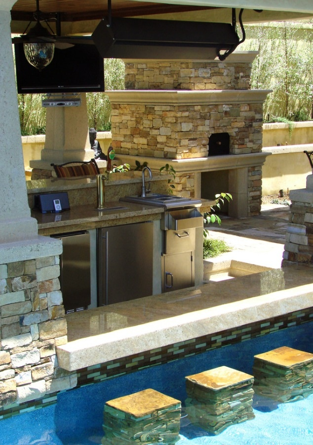 Cool pool bar for parties