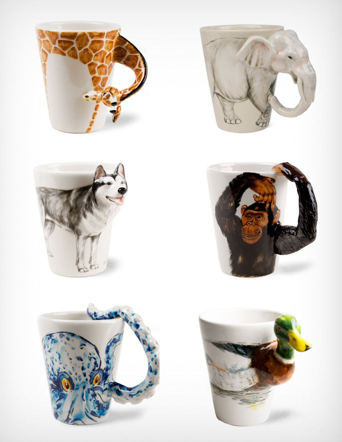 Cool Looking Handmade Animal Mugs By Blue Witch