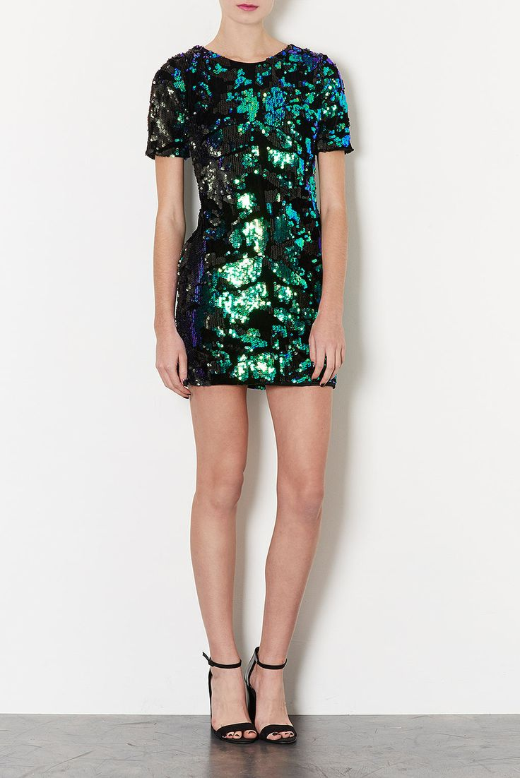 Sequin Velvet Dress - Party Dresses - Dresses - Clothing - Topshop