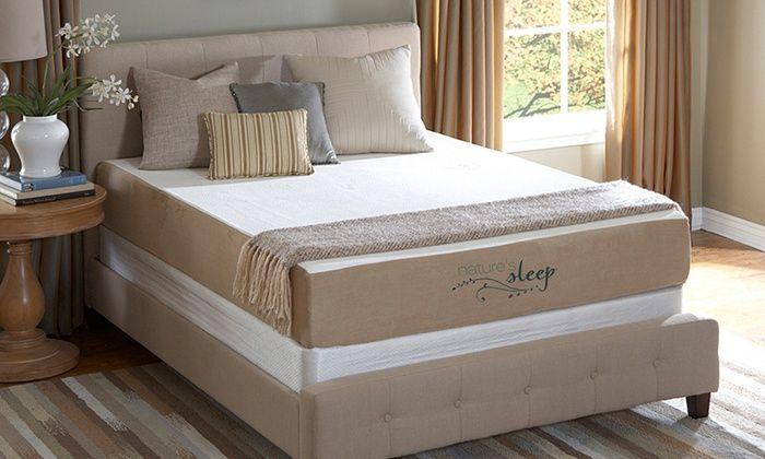 "Nature's Sleep Cool IQ Memory Foam Mattress: Nature's Sleep Cool IQ 10"" Memory Foam Mattresses with Optional Foundation. 20-Year Warranty."
