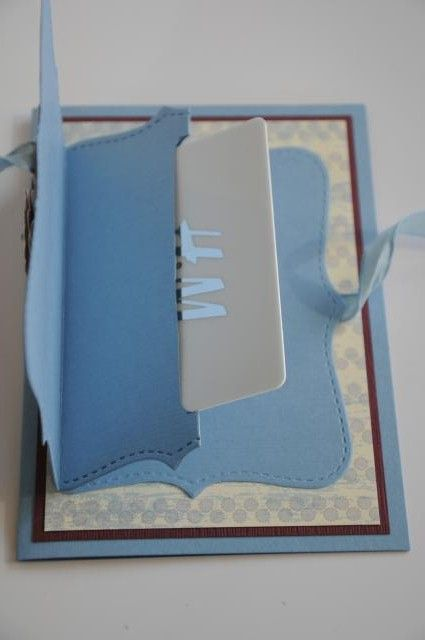 Top Note stampin up die. Gift card holder on a card!