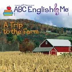It all begins on the farm. The introductory unit of ABC English & Me engages children in English conversation right from the start—through dialogue   with an English-speaking puppet. Children learn the names and sounds of farm animals, and have fun galloping, hopping, and leaping like the animals.   Counting and color words are integrated into rhymes, stories, and songs. www.abcenglishandme.com