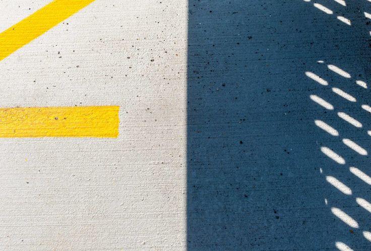 minimalist photo concrete parking lot