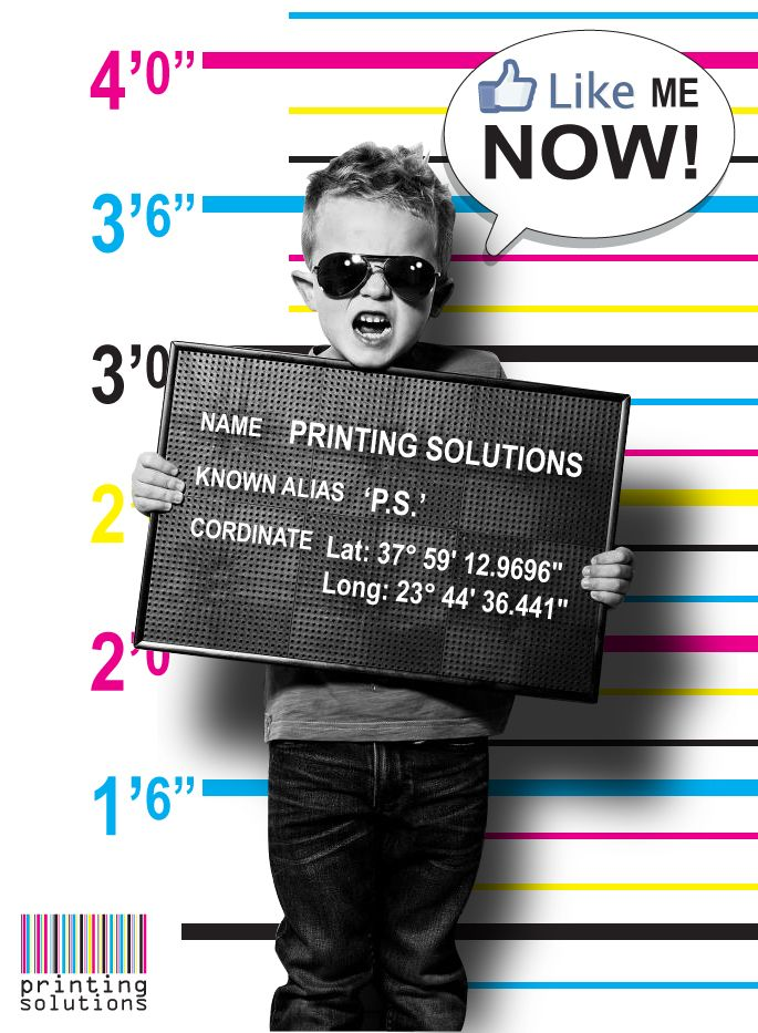 "Facebook landing page, ""Printing Solutions"" tab design. #facebook #page #tab #design #like #now"