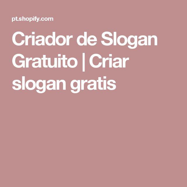 Criador de Slogan Gratuito | Criar slogan gratis