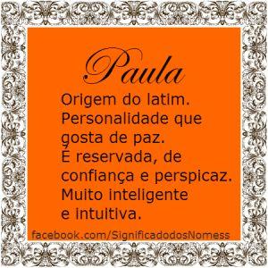 Significado do nome Paula | Significado dos Nomes