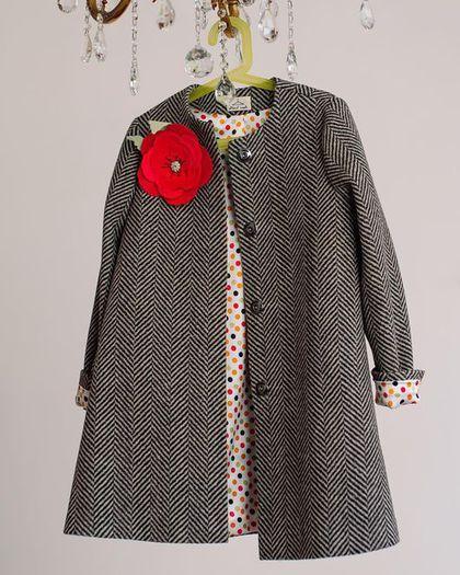 """Одежда для девочек, ручной работы. Заказать Пальто """"Ёлочка"""". FIFI.BABY. Ярмарка Мастеров. Демисезонное пальто, для девочки, брошь"""