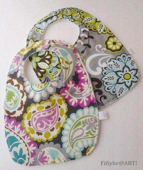 AboutBloggingTime!: DIY bibs and burp cloths #sewing #tutorials