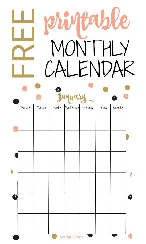 Free Vertical Printable Monthly Calendar Free Printable Calendar Monthly Calendar Free Printable Calendar Monthly
