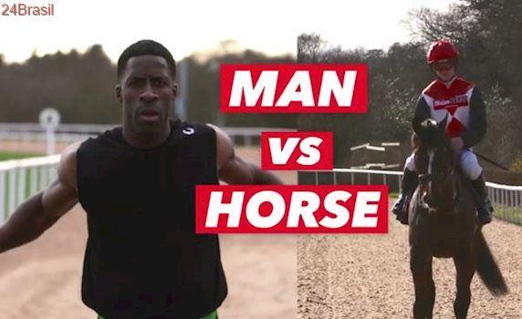VEJA VÍDEO: ex-velocista britânico ganha corrida contra cavalo