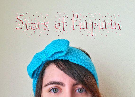 Diadema Jane  Diadema con Lazo Cinta por StarsOfPurpurin en Etsy