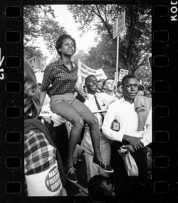 Many Freedom Riders, who had put their lives on the line when they travelled into the deep south, were a highly visible presence at the March on the mall in 1963  [Never-Before-Seen Photographs of the March on Washington by Stanley Tretick, not previously published. More at link.]