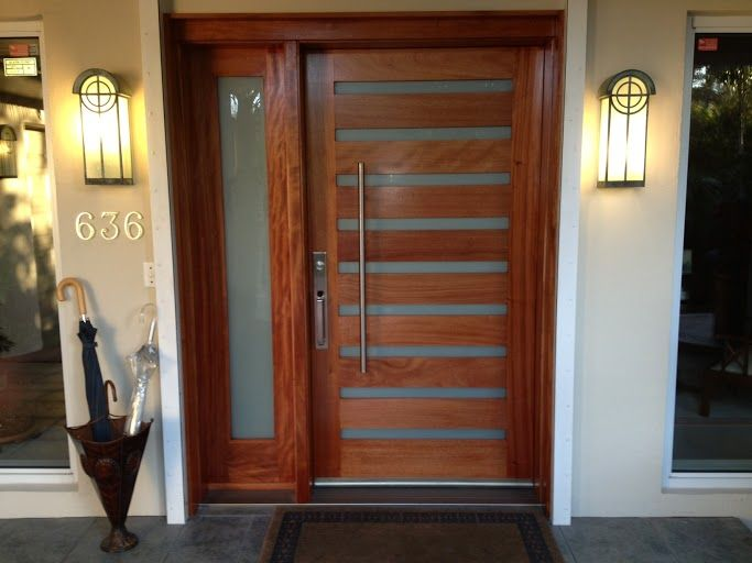 A door that mixes wood, metal, and glass like this ETO door is a great way to add a modern feel to your home.