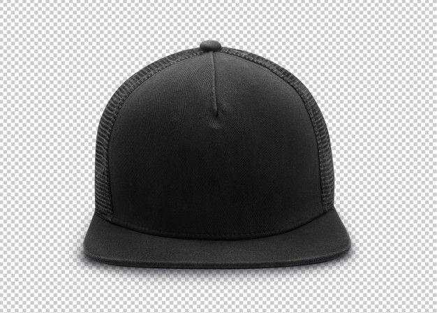 Black Snapback Cap Mockup Template On Transparent Black Snapback Snapback Snapback Cap