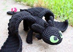Crochet For Free: Crochet Toothless dragon