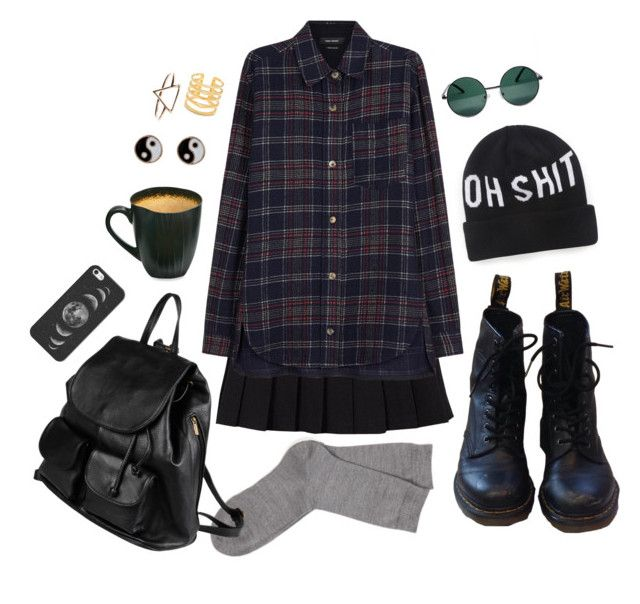 """Oh Sh!t"" by sugaryragdoll ❤ liked on Polyvore featuring YHF, Falke, Isabel Marant, Dr. Martens, Dimepiece, Baum, Casetify, Accessorize, Stella & Dot and PARENTESI"