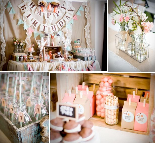 Girly Rustic Chic Bedroom: Rustic Chic Baby Girl Shower