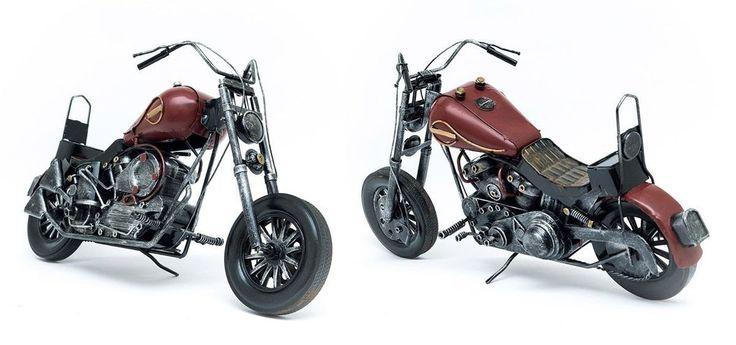 Miniatura Moto Kawasaki Vulcan Antiga - Machine Cult | A loja das camisetas de carro e moto