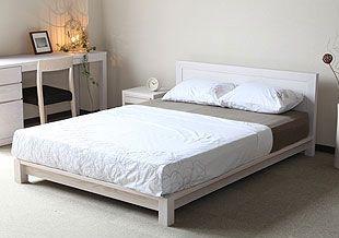 ▼二人で贅沢な広さ ~クイーン~ - ベッド通販店 VENUS BED ベル[ホワイトアッシュ] Q ¥194,000(税抜) -- 木製ベッド