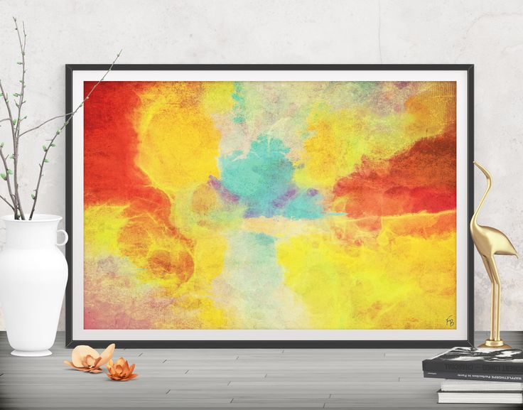 Tropical flair for your living space! Modern large print - Printables by FraBor Art.