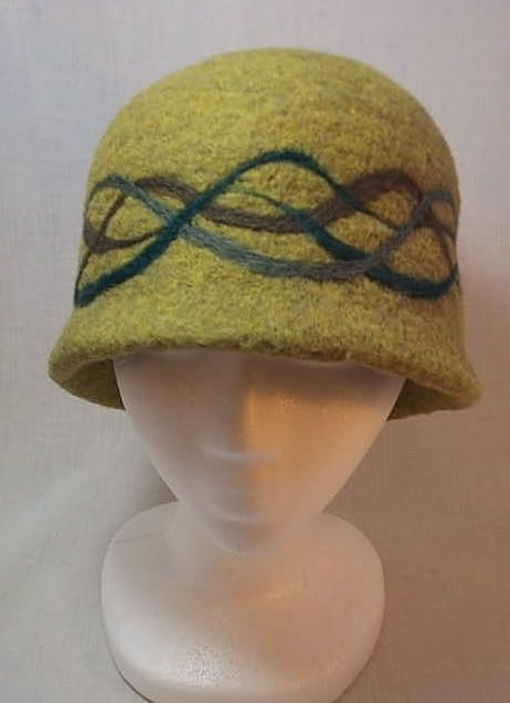 Needle Felted Hat #millinery #judithm #felting This felted hat is well done.Kudos to the maker, GraceOblivious.