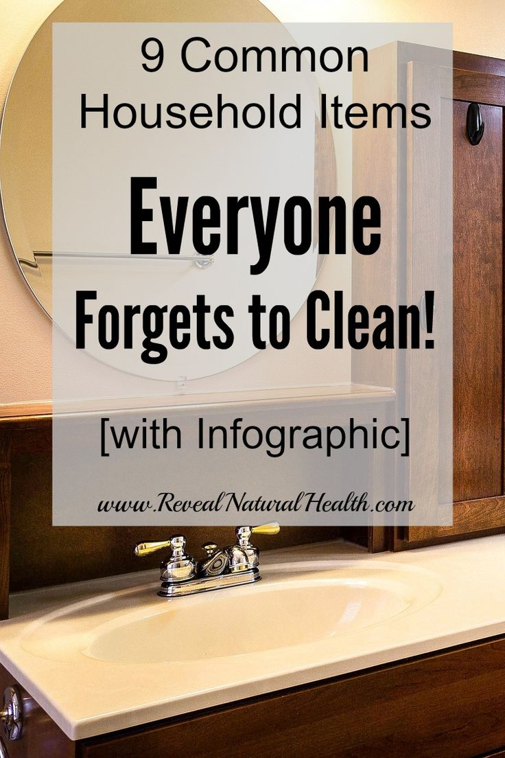 If you want a clean and healthy home, you need to rethink what you are cleaning. These common household items are often missed during regular cleaning.: