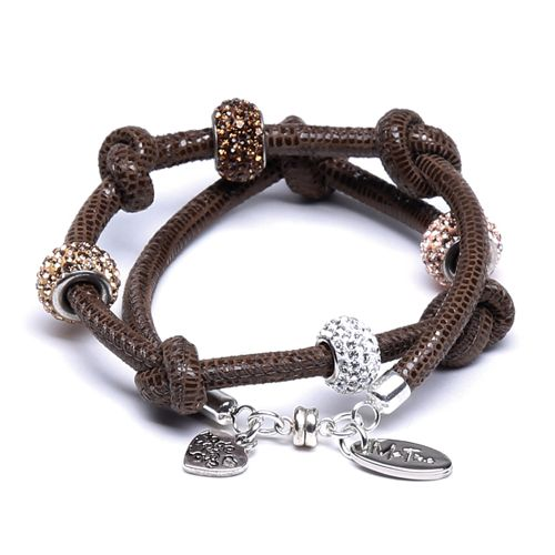 Wrap bracelet - Shamballa - lizar...