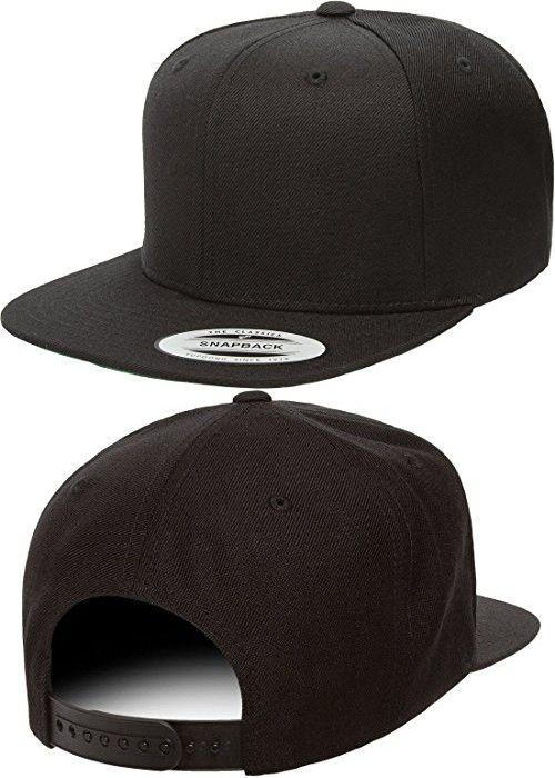 aa3f4beee3d80 Original Yupoong Pro-Style Wool Blend Snapback Snap Back Blank Hat Baseball  Cap 6098M -