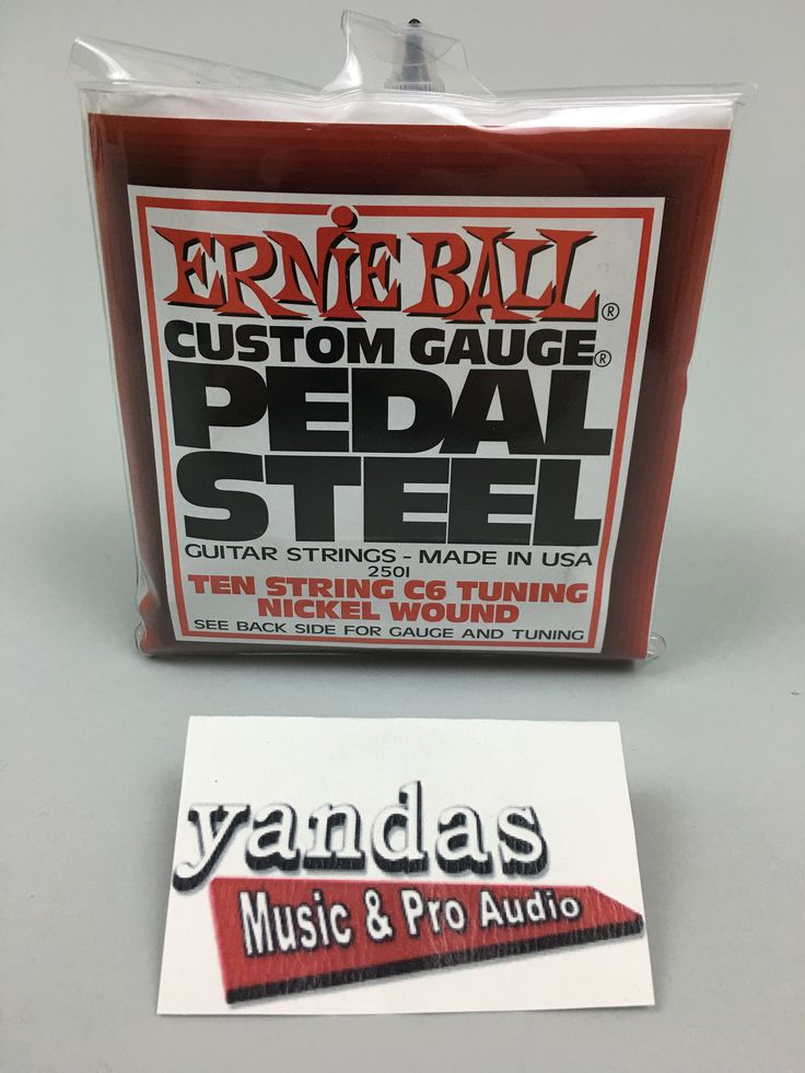 Ernie Ball Custom Pedal Steel Guitar Strings   Ten String C6 Tuning   2501