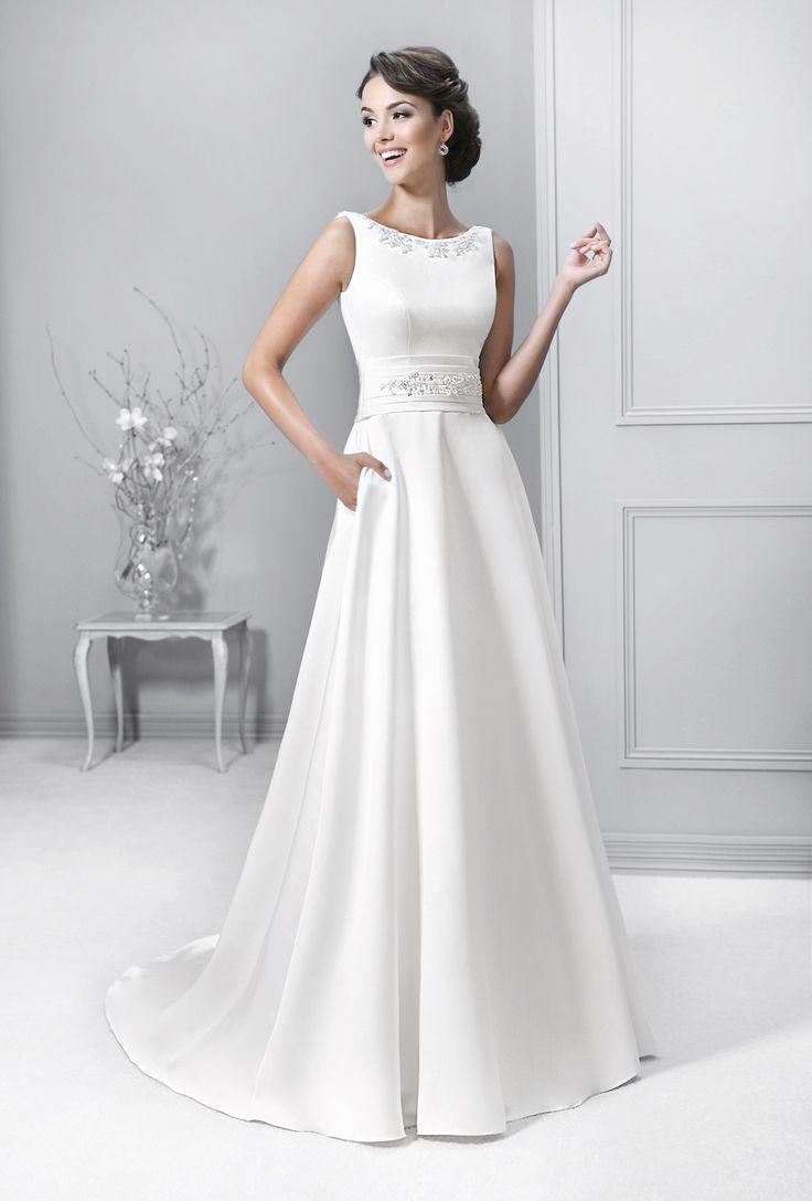 saténové svatební šaty Agnes 14333
