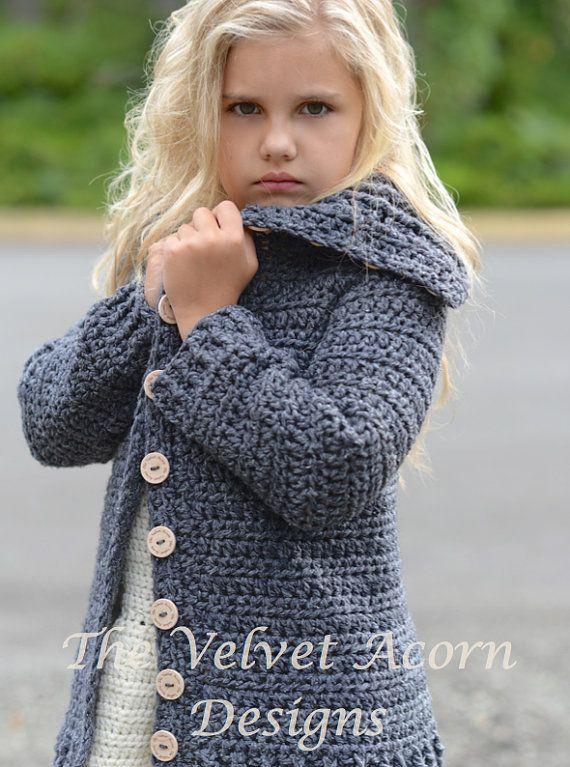 CROCHET PATTERN-The Breslin Sweater 2/3 4/5 6/7 by Thevelvetacorn
