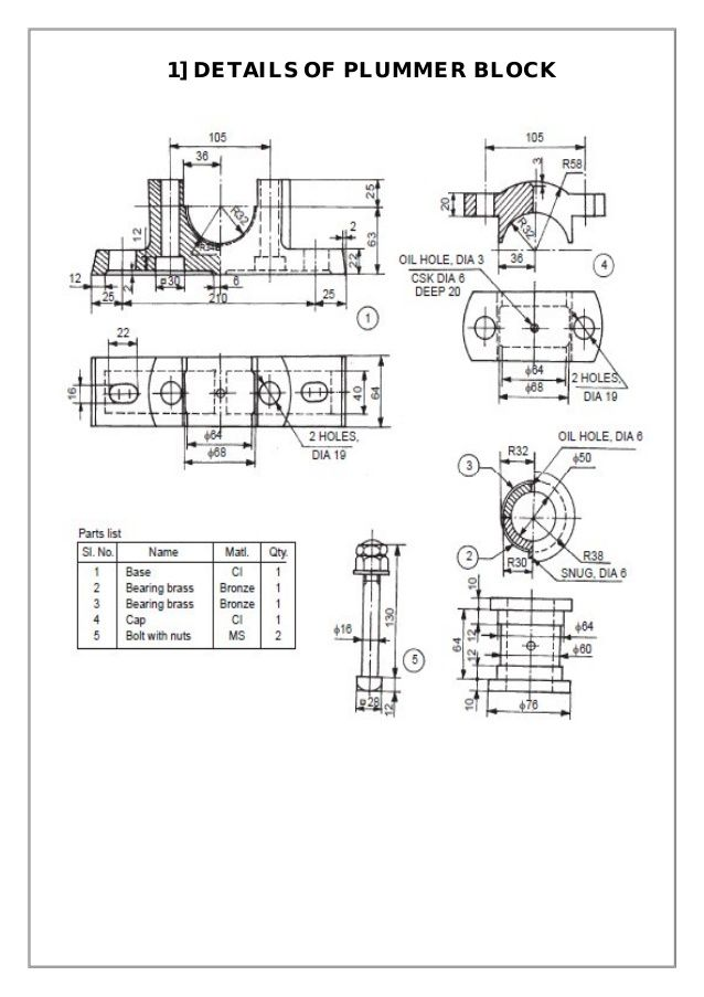 Assembly And Details Machine Drawing Pdf Cad In 2019 Drawings