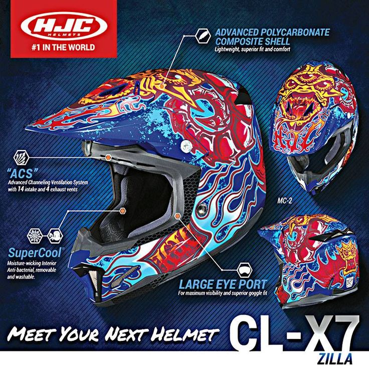 The New @hjc_helmets CL-X7 Zilla Blue Helmet is made with a full front to back ventilation system that keeps you cool on those extra hot days by forcing air into the helmet and keeping humidity and heat out. Grab yours now at @wwwwmotohelmets online store.  #hjc #zilla #clx7 #moto #helmet #street #streetlife #motolife #bikersofig #onlineshopping #onlinestore #actionsports #wwwmotorhelmets #hjchelmets