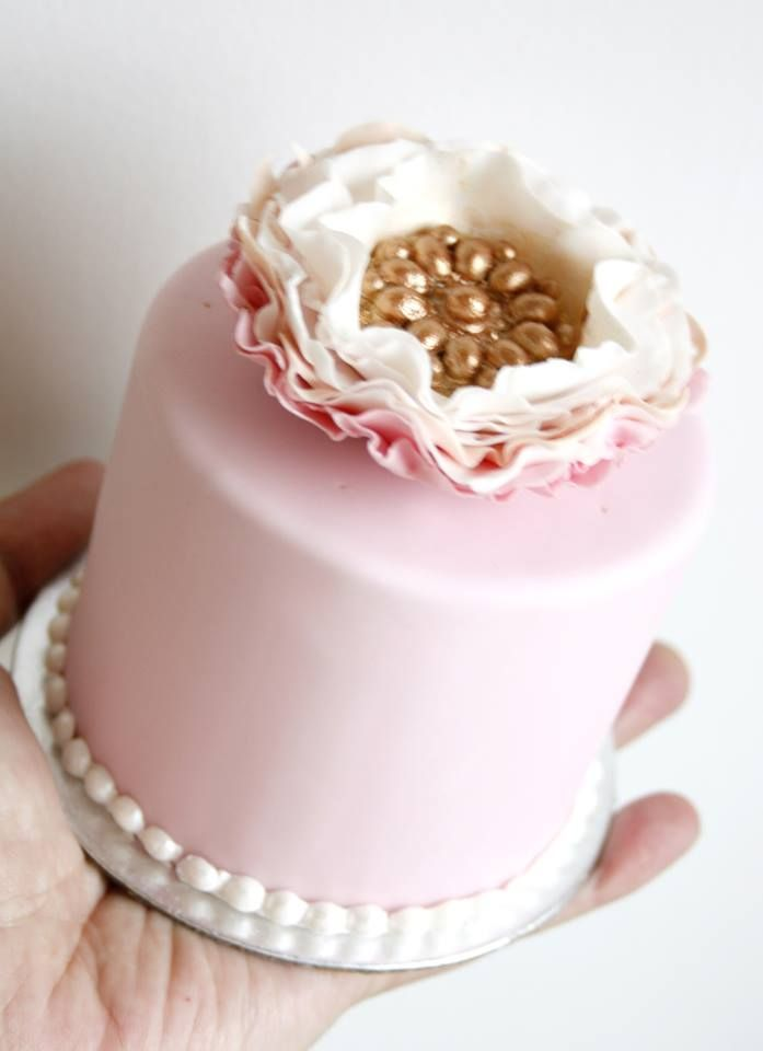 Pink & Gold Mini Cake