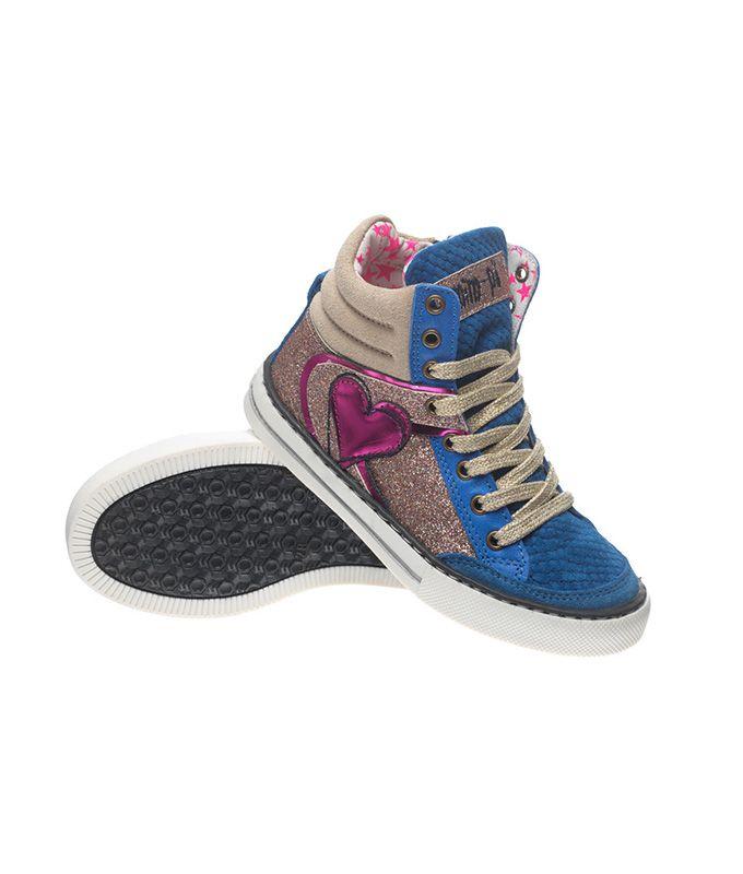 MimPi 1694 Blue Glitter Sneakers Little Mooshoo