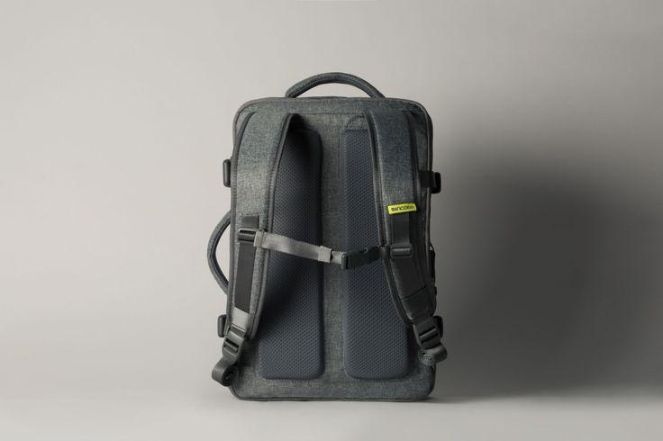 Incase EO Travel Backpack. Padded shoulder straps, breathable mesh back panels and an adjustable sternum strap makes travel feel effortless.