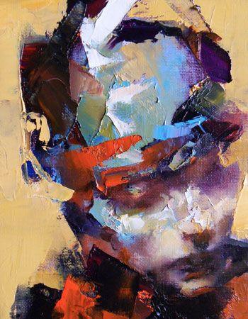 Head of a Youth, oil on linen, by Paul W Ruiz