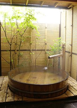 Japanese traditional bath style