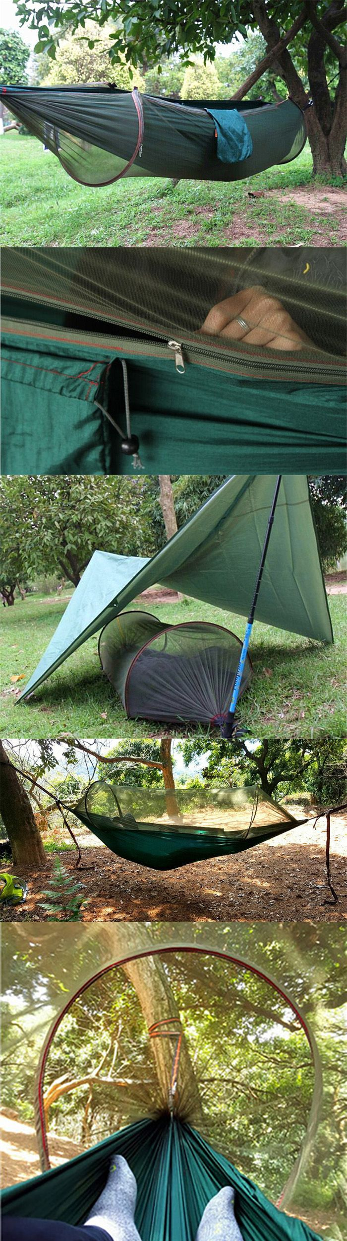 2-Person Anti-mosquito Parachute Nylon Hammock