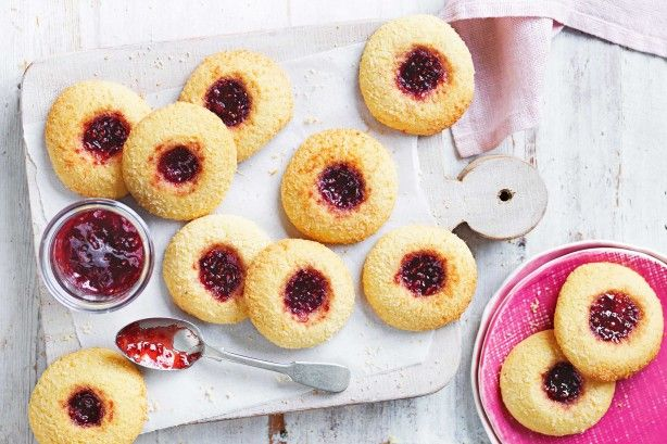 Custard powder and hints of lemon make these classic jam drops extra special.