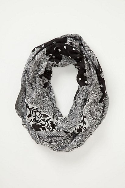 Chandi Crewelwork Infinity Scarf #anthropologie